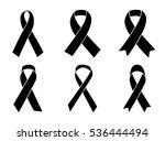 vector set of ribbon on white... | Shutterstock .eps vector #536444494