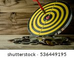 coin with dart board on the... | Shutterstock . vector #536449195