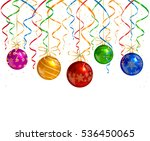 holiday decorations with shiny... | Shutterstock .eps vector #536450065