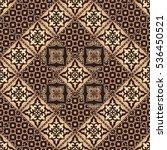 gorgeous seamless patchwork... | Shutterstock .eps vector #536450521