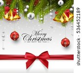 christmas decoration with fir... | Shutterstock . vector #536452189