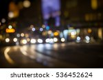 night traffic colorful bokeh... | Shutterstock . vector #536452624