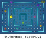 pacman like video arcade game... | Shutterstock . vector #536454721