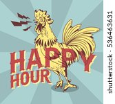 happy hour  new vintage poster... | Shutterstock .eps vector #536463631