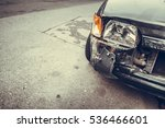 color image of a crashed car... | Shutterstock . vector #536466601
