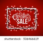 christmas sale poster with hand ... | Shutterstock . vector #536466619