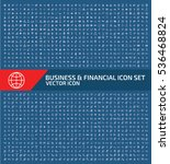 business and finance icon set... | Shutterstock .eps vector #536468824