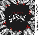 merry christmas fir tree card.... | Shutterstock .eps vector #536470009