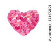 pink heart made from small... | Shutterstock .eps vector #536472505
