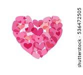 vector pink heart made from...   Shutterstock .eps vector #536472505