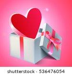lovely st.valentine day pink... | Shutterstock .eps vector #536476054