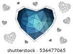 blue heart isolated on white... | Shutterstock .eps vector #536477065