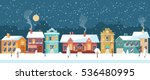 Snowy Night In Cozy Christmas...