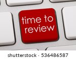 time to review word written on... | Shutterstock . vector #536486587