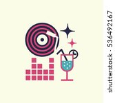 party event icon. thin line and ... | Shutterstock .eps vector #536492167