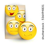 emoticons icons.vector set of... | Shutterstock .eps vector #536494831