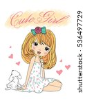 cute girl  princess girl    t... | Shutterstock .eps vector #536497729