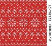 christmas knitting seamless... | Shutterstock .eps vector #536501479