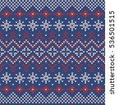christmas knitting seamless... | Shutterstock .eps vector #536501515
