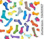socks background pattern. vector   Shutterstock .eps vector #536505907