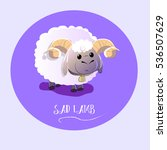 sad lamb on isolated background | Shutterstock .eps vector #536507629
