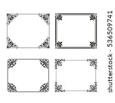 vector square frame labels set... | Shutterstock .eps vector #536509741