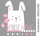 cute vector card with cartoon... | Shutterstock .eps vector #536511481