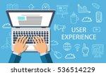 user experience. online... | Shutterstock .eps vector #536514229