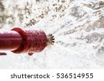 Fire Sprinklers And Red Pipe...