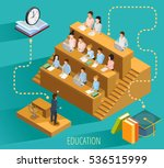high school education with... | Shutterstock .eps vector #536515999