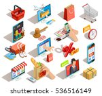 online shopping isometric... | Shutterstock .eps vector #536516149