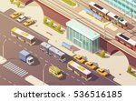city transport with bike car... | Shutterstock .eps vector #536516185