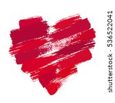 heart from brush strokes.... | Shutterstock .eps vector #536522041