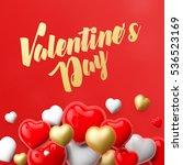realistic 3d colorful romantic... | Shutterstock . vector #536523169
