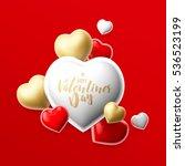 realistic 3d colorful romantic... | Shutterstock . vector #536523199