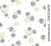 seamless pattern with pine cones   Shutterstock .eps vector #536523829