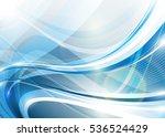 blue wavy composition. raster... | Shutterstock . vector #536524429