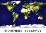 polygonal world map. raster... | Shutterstock . vector #536524471