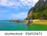 boat travel in andaman sea  koh ... | Shutterstock . vector #536525671