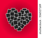 heart concept made with photo... | Shutterstock .eps vector #536527189