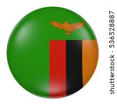 3d rendering of a zambia flag...   Shutterstock . vector #536528887