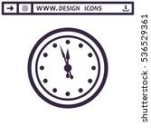 clock icon vector flat design... | Shutterstock .eps vector #536529361