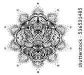 all seeing eye in ornate round... | Shutterstock .eps vector #536531485