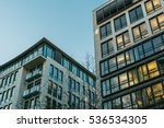 two big apartment houses at...   Shutterstock . vector #536534305