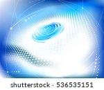 tech abstraction. raster... | Shutterstock . vector #536535151