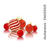 illustration christmas glitter... | Shutterstock .eps vector #536535325
