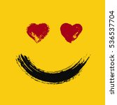 emoticon in love. smiling emoji ... | Shutterstock .eps vector #536537704