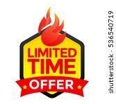 limited time offer badge  label ... | Shutterstock .eps vector #536540719