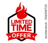 limited time offer red label... | Shutterstock .eps vector #536540725