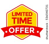 limited time offer badge vector ... | Shutterstock .eps vector #536540731